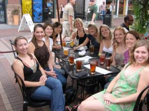 "All the ladies ""before"""