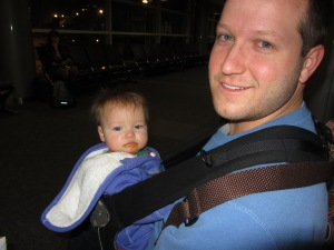 5am sucks - Josie would not even turn on the charm to get us on a flight