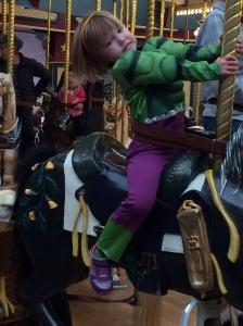 Hulk on horse