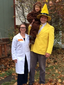 George, Prof. Wiseman, and the Man in the Yellow Hat